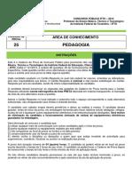Caderno de Prova 25 Pedagogia