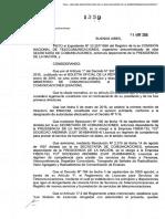 Resolucion Nº 1359/16 ENACOM