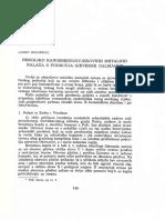 Belošević - Nekoliko Ranosrednjovjekovnih Metalnih Nalaza s Područja Sjeverne Dalmacije
