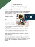 Desarrollo Social en Los Niños