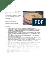 Cold Cake Recipe