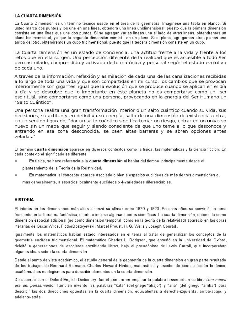 Emejing Que Es La Cuarta Dimension Pictures - Casas: Ideas & diseños ...