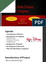 the walt disney company - indiv  proj