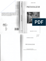 Didier Anzieu - Psicoanalizar. Ed. Biblioteca Nueva. 178p