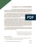 Latihan Rumusan 2 Formula Perpaduan Kaum