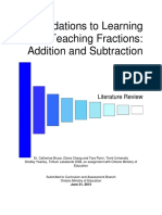 Final Foundations to Learning and Teaching Fractions