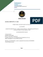 Media Release Philipines