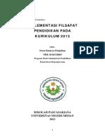 Implementasi Filsafat Pendidikan Pada Kurikulum 2013