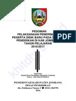 Pedoman Pelaksanaan Ppdb Online Kabupaten Jombang Tahun Pelajaran 2016-2017---Khitdhys