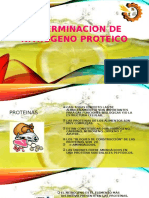 Determinacion de Nitrogeno Proteico