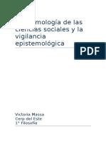 Epistemología de Las Ciencias Sociales y La Vigilancia Epistemológica