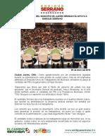 2016-04-29  SINDICALIZADOS DEL MUNICIPIO DE JUÁREZ BRINDAN SU APOYO A ENRIQUE SERRANO