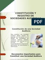 Constitución y Registro de Sociedades Auditoras