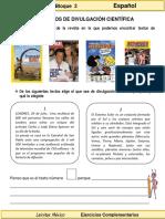 3er Grado - Español - Los Textos de Divulgación Científica