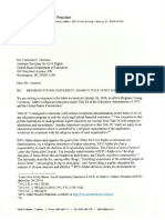 BYU-Idaho's letter requesting an exemption from Title IX discrimination rules