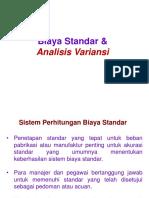 Biaya Standar Dan Analisis Varian