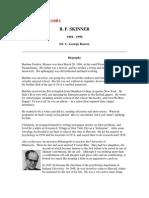 Personality Theories B.F. Skinner
