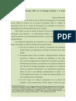 Córdoba 1969 - Mercosur 2009 El Surgimiento de La Psicología Sanitaria