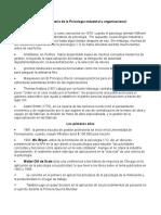 Historia de La Psicología Industrial u Organizacional