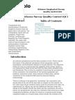 Geophysical Airborne Survey Quality Control