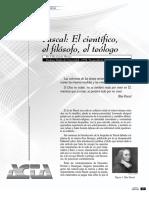 Pascal, El Científico, El Filósofo, El Teólogo