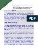 2014 Doctrina Diferencias entre Extinción y Resolución Contrato (Paraguay)