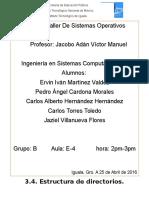 3.4 Estructura de Directorios