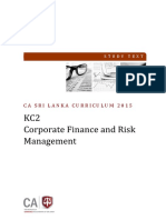 KC-02 Corporate Finance & Risk Management