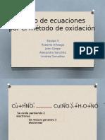 Balanceo de Ecuaciones Por El Método de Oxidación