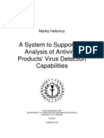 A System to Support the Analysis of Antivirus Products' Virus Detection Capabilities