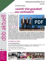 Flugblatt Einkommensrunde 2016 dbb