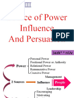 Chapter 3 Source of Power, Influence and Perusasion