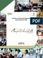 Aajeevika Skills Guideline 2013
