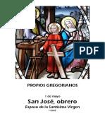 Propios Gregorianos -San José Obrero 1 de mayo
