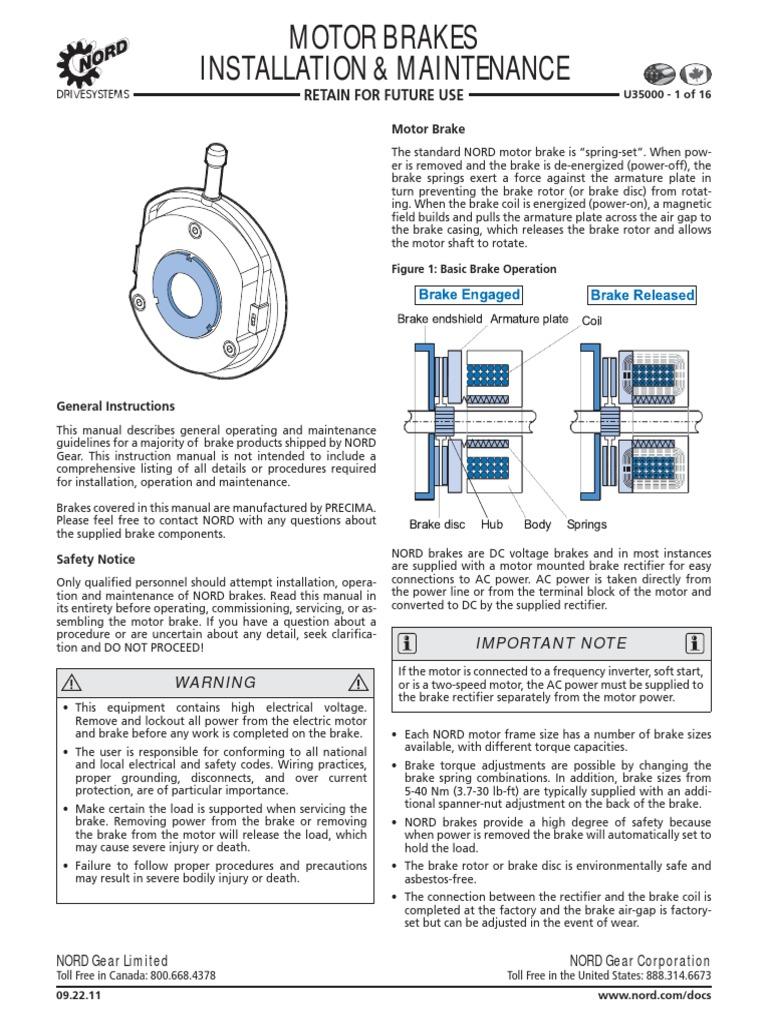 u35000 pdf switch power inverter rh scribd com SEW-EURODRIVE Motor Digrams Brakes Agitator Nord