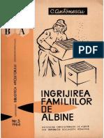 Ingrijirea Familiilor de Albine C Antonescu 1966 176 Pag