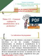 Thème 213 - Mondialisation de La Production