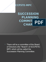 SCCPSTE-MPC (Succession Planning Committee Charter)