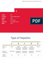 Viral Hepatitis A - E