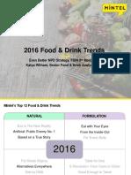 2016 Food Drink Trends Mintel Katya Witham