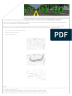Creating a Retaining Wall Using Civil 3D Feature Lines and Grading Objects