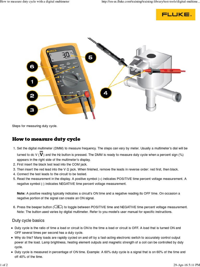 How To Measure Duty Cycle With A Digital Multimeter Manufactured