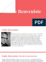 Emile Benveniste Presentation Son