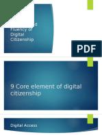 9 Core Element of Digital Citizenship