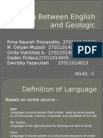 Relation Between English and Geologic