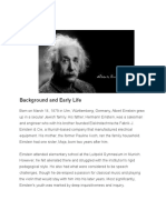 Albert Einstein Background and Early Life