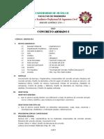Concreto Armado I - UDH - Syllabus