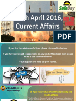 29 April 2016 Current Affair for Competition Exams