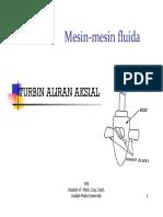 Mesin Mesin Fluida Turbin Aliran Aksial