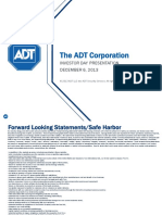 ADT Investor Day Presentation 2013